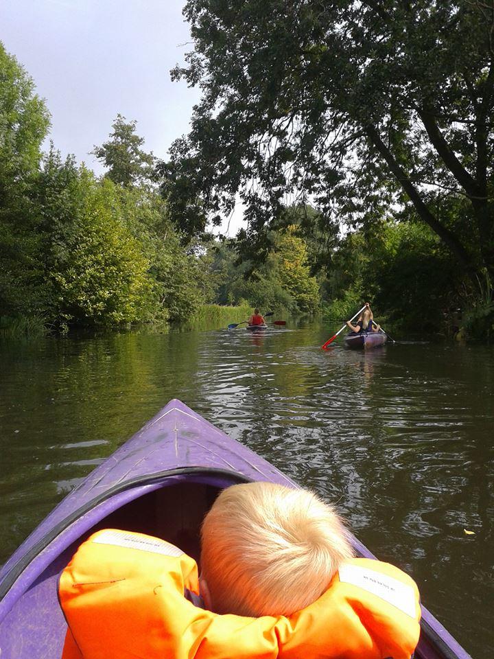 In de kano over de Berkel